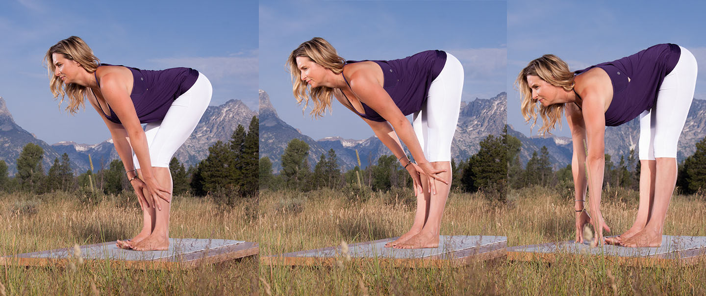 Standing Forward Half Bend Pose for Yoga