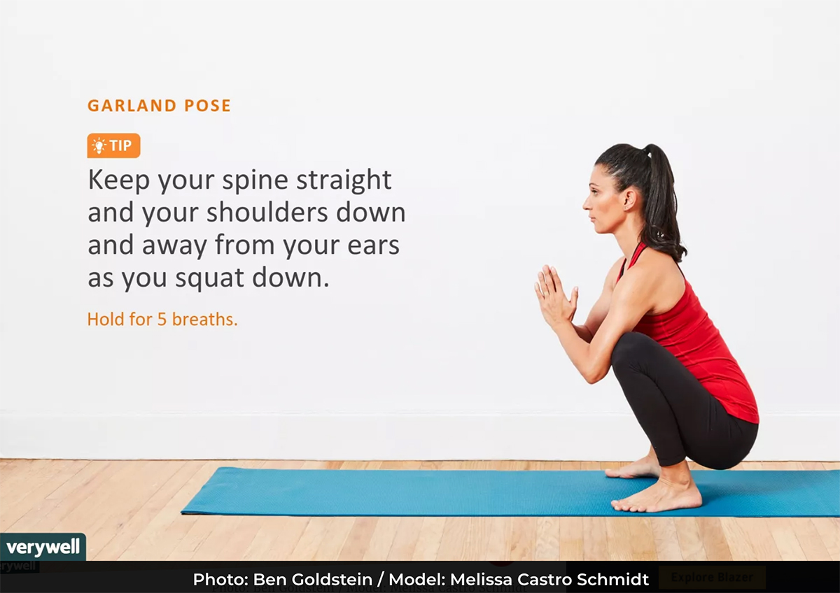 Garland Pose - Yoga Poses For Back Pain