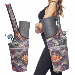 Yoga Mat Bag with Large Size Pocket and Zipper Pocket by Ewedoos