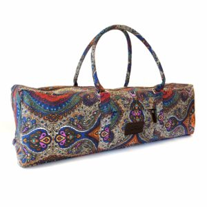 Yoga Mat Duffle Bag Patterned Canvas by Kindfolk