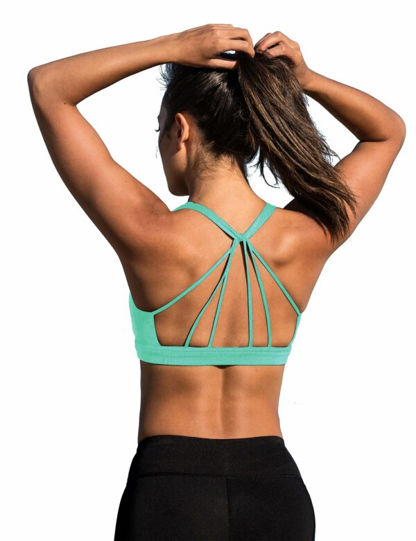 Padded Strappy Sports Bra by icyzone
