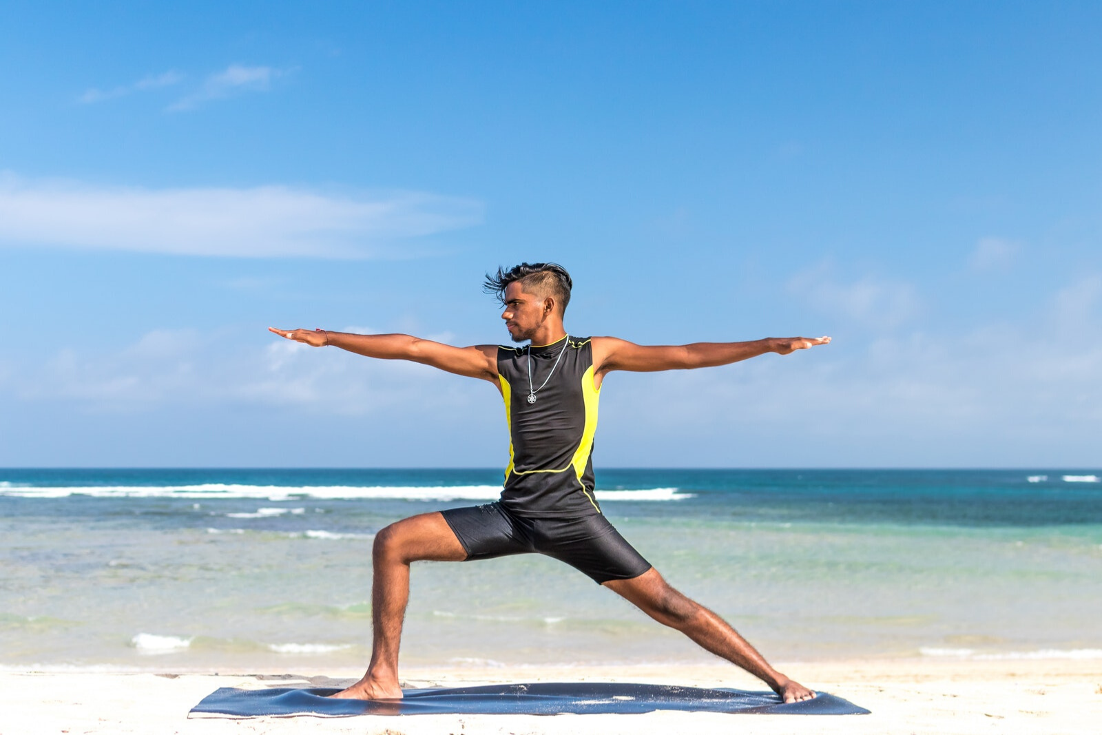 Man Doing Yoga At The Beach | Yoga For Beginners At Home: How To Be A Self-Starter